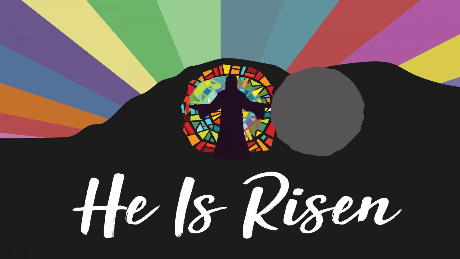 He is risen stone