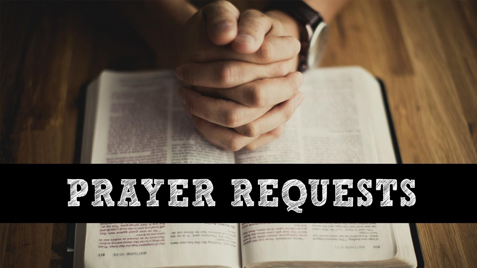 Prayer requests | slide2