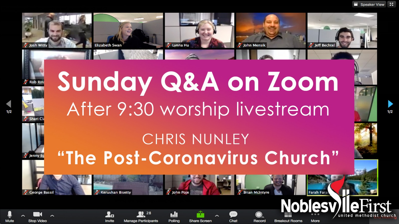 Sunday Q&A on Zoom | MAY 31 slide