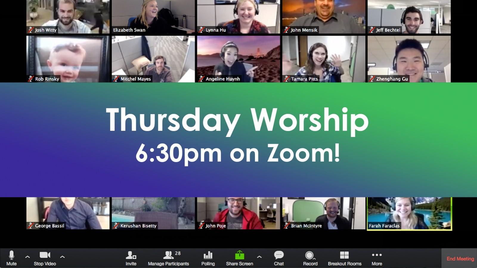 Thursday Worship on Zoom | no url - web2