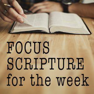 Faith First scripture