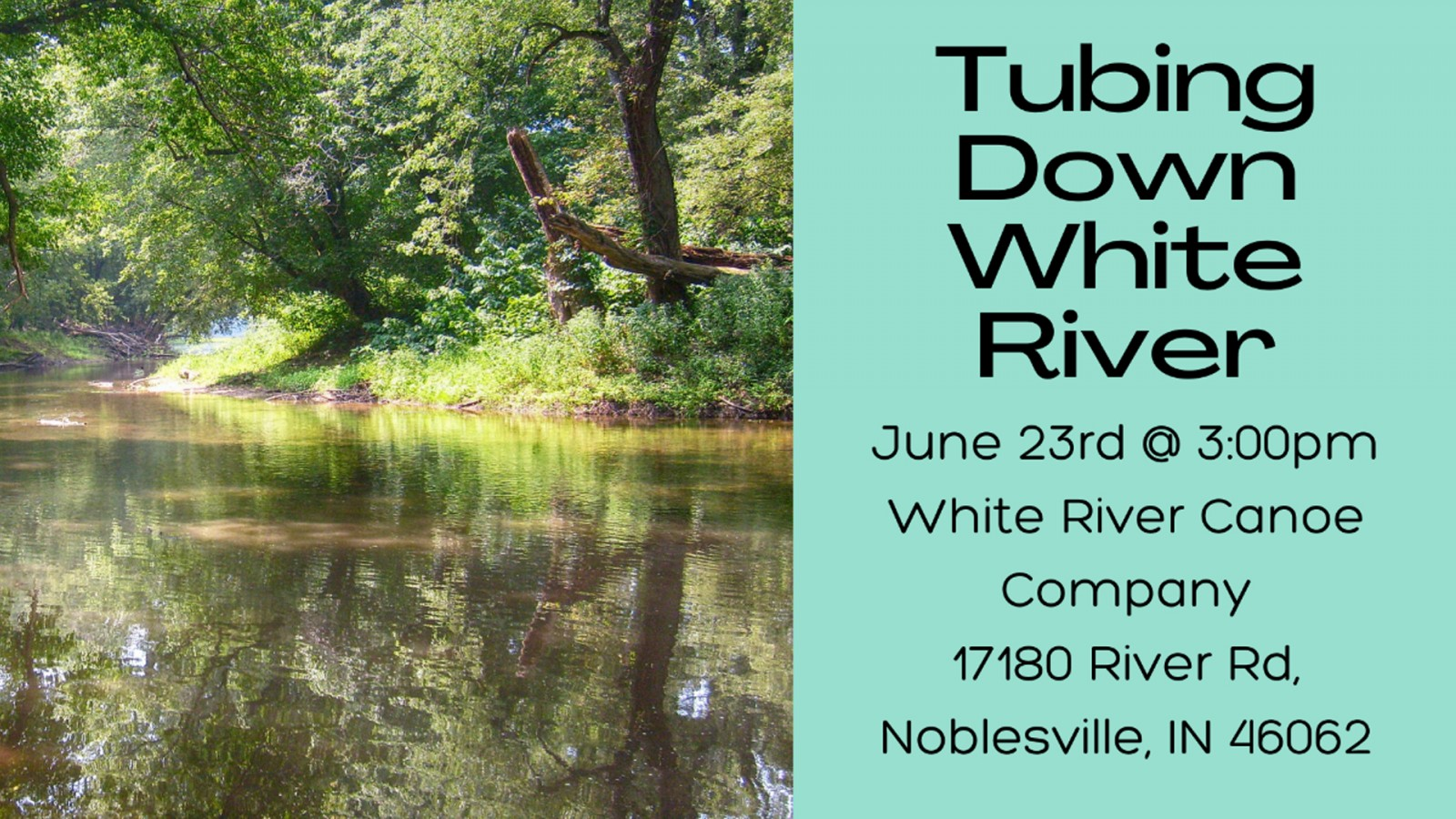 Tubing down the white river slide
